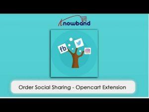 OpenCart social sharing module